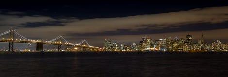 Puente de la bahía en San Francisco Foto de archivo