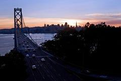 Puente de la bahía - isla del tesoro, San Francisco Imágenes de archivo libres de regalías