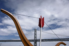 Puente de la bahía, San Francisco foto de archivo