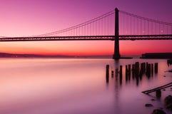 Puente de la bahía, San Francisco, California. Fotos de archivo libres de regalías