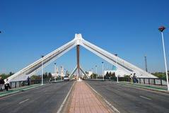 Puente de la Barqueta, Sevilla imagen de archivo