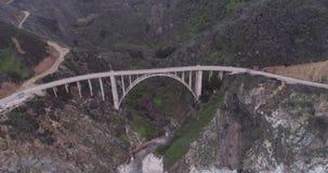 Puente de la cala de Bixby tambi?n conocido como puente del barranco de Bixby metrajes