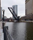Puente de la calle de Kinzie fotografía de archivo