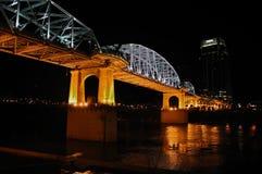Puente de la calle de Shelby de Nashville Imagen de archivo libre de regalías