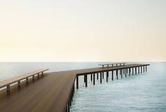 Puente de la calzada en el paisaje marino Imágenes de archivo libres de regalías