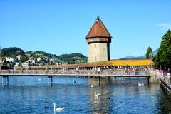 Puente de la capilla, Alfalfa, Suiza Fotos de archivo