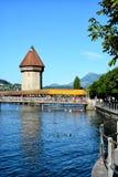Puente de la capilla, Alfalfa, Suiza Fotografía de archivo libre de regalías
