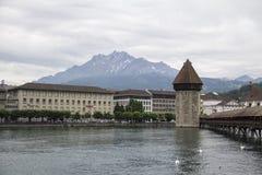 Puente de la capilla en Lucerna Fotografía de archivo libre de regalías