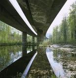 Puente de la carretera A3 Aare del cantón suizo del informe de Argovia Imagen de archivo