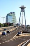 Puente de la carretera de Bratislava Fotos de archivo libres de regalías