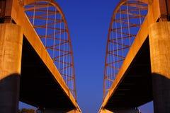 Puente de la carretera del cedro Imagen de archivo libre de regalías