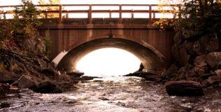 Puente de la cascada Fotografía de archivo