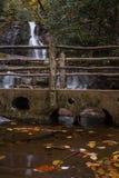 Puente de la cascada Imágenes de archivo libres de regalías