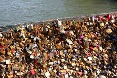 Puente de la cerradura del amor Fotografía de archivo libre de regalías