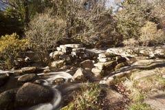 Puente de la chapaleta en Dartmeet Foto de archivo
