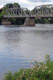 Puente de la ciudad de Rumford Imagenes de archivo