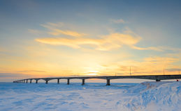 Puente de la confederación en la puesta del sol Imagen de archivo