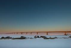 Puente de la confederación en la salida del sol Fotos de archivo libres de regalías