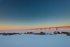 Puente de la confederación en la salida del sol Foto de archivo
