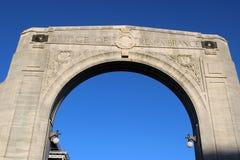 Puente de la conmemoración, Christchurch, Nueva Zelanda fotografía de archivo