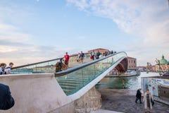 Puente de la constitución en Venecia, Italia Imágenes de archivo libres de regalías