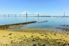 Puente de la constitución española 1812 Aka puente del Pepa Fotos de archivo