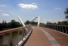 Puente de la efímera, Szolnok, Hungría Imágenes de archivo libres de regalías