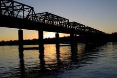 Puente de la ensenada del hierro Fotos de archivo
