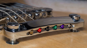 Puente de la guitarra eléctrica Fotografía de archivo libre de regalías
