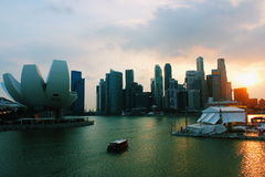 Puente de la hélice en la opinión de la puesta del sol Fotografía de archivo libre de regalías