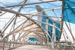 Puente de la hélice en Singapur Imágenes de archivo libres de regalías