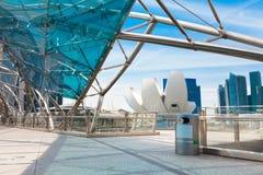 Puente de la hélice en Singapur Fotos de archivo libres de regalías