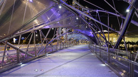 Puente de la hélice en Singapur Fotografía de archivo