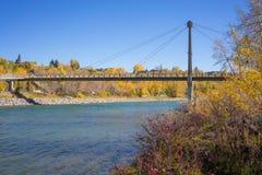 Puente de la isla de Autumn Prince Foto de archivo libre de regalías