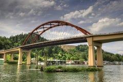Puente de la isla de Sauvie Fotografía de archivo