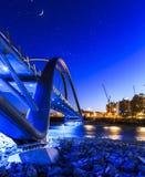Puente de la isla del ` s de St Patrick con las estrellas Foto de archivo libre de regalías