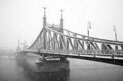 Puente de la libertad, Budapest imagenes de archivo