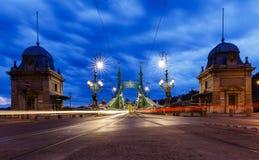 Puente de la libertad en Budapest Imagen de archivo