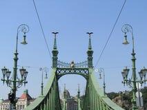 Puente de la libertad en Budapest Fotos de archivo