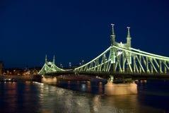 Puente de la libertad en Budapest fotografía de archivo