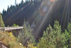 Puente de la luz Fotos de archivo