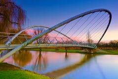 Puente de la mariposa en Bedford, Inglaterra Imagenes de archivo