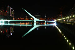 Puente de la Mujer. Woman Bridge in Buenos Aires Argentina at night Stock Photo