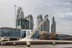 puente de la Mujer Bridge阿根廷 库存图片
