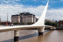 Puente DE La Mujer Bridge Argentinië Stock Foto
