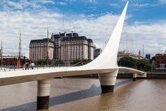 Puente de la Mujer Bridge la Argentina Foto de archivo