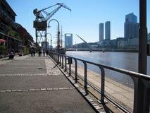 Puente DE La Mujer Puerto Madero Buenos aires Argentinië stock foto's