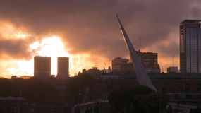 Puente De La Mujer at sunset, Buenos Aires, Argentina Royalty Free Stock Image