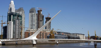 Puente de la mujer (woman's bridge) Stock Photo