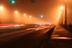 Puente de la noche Imágenes de archivo libres de regalías
